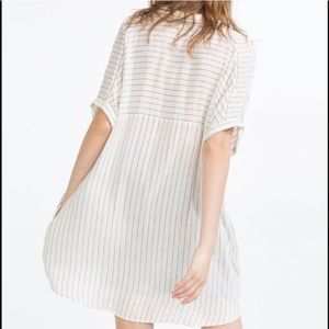 Zara Striped Button Down Tunic
